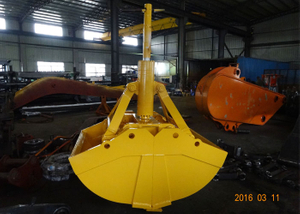 One cylinder clam shell bucket for Komatsu PC360